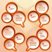 Link toCircular speech bubble for you text design vector 05