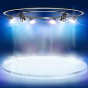 Link toSet of stage with spotlights elements vector 01