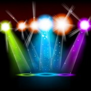 Link toSet of stage with spotlights elements vector 04