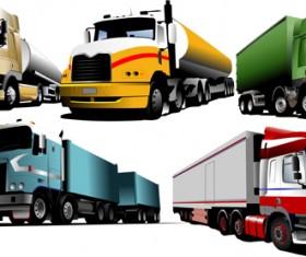 Different of trucks vector Illustration 05