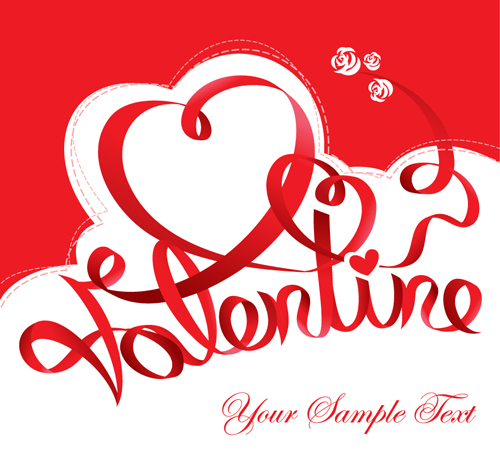 The Valentine Card Design Vector Graphic 02 Vector Card