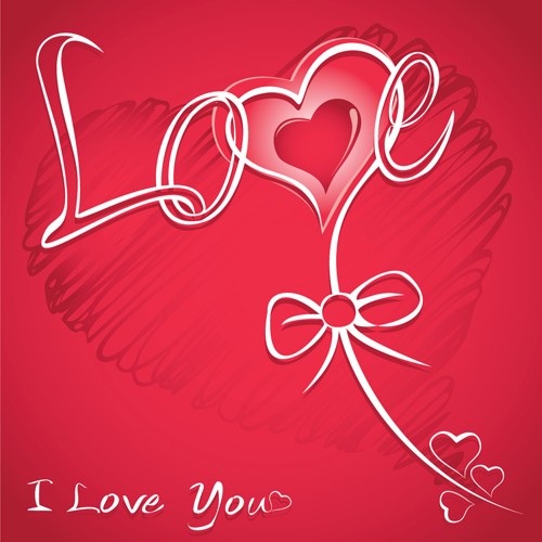 The valentine card design vector graphic 04 vector card for Designs for valentine cards