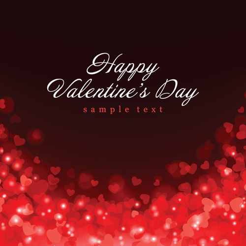 Romantic of Valentines day backgrounds art vector 04
