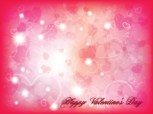 Romantic of Valentines day backgrounds art vector 05