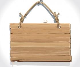 Retro Wooden board Signage design vector 02