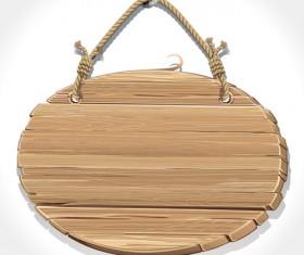 Retro Wooden board Signage design vector 03