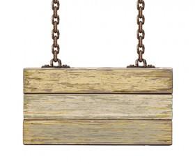 Retro Wooden board Signage design vector 05