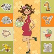 Link toCartoon children cards design vector material 02