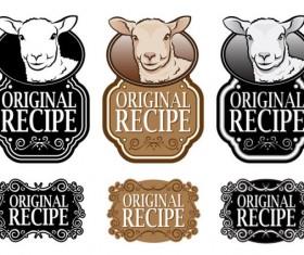 Set of recipe labels vector 03