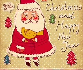 Santa Claus and xmas Stickers vector grahpic 02