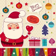 Link toSanta claus and xmas stickers vector grahpic 03