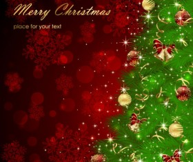 Sparkling Christmas elements vector backgrounds 01
