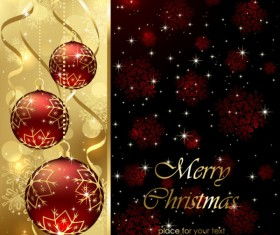Sparkling Christmas elements vector backgrounds 02
