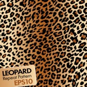Link toLeopard repeat pattern vector material