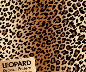 Leopard repeat pattern vector material