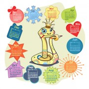 Link toElements of creative calendar grid 2013 vector 01