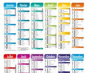 Elements of Creative Calendar grid 2013 vector 02