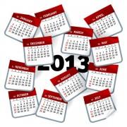 Link toElements of creative calendar grid 2013 vector 05