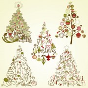 Link toThe offbeat christmas tree design vector 02