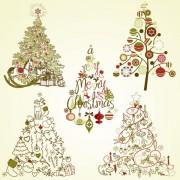 Link toThe offbeat christmas tree design vector 02