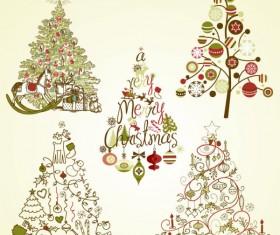 The offbeat Christmas tree design vector 02