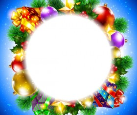 ornate Christmas ornaments elements vector backgrounds 02