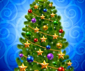 ornate Christmas ornaments elements vector backgrounds 03