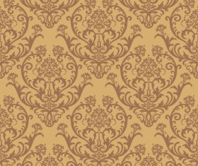 Set of Modern Brown floral pattern vector material 01