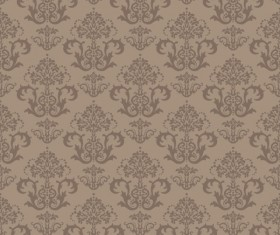 Set of Modern Brown floral pattern vector material 02