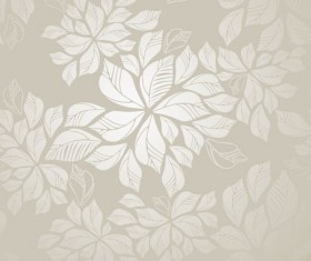 Set of Modern Brown floral pattern vector material 04