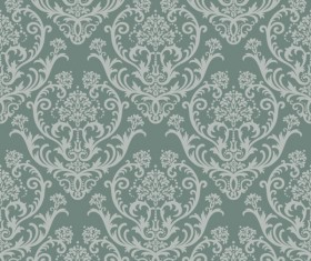 Set of Modern Brown floral pattern vector material 05