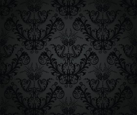Set of Modern Brown floral pattern vector material 08