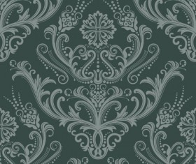 Set of Modern Brown floral pattern vector material 09
