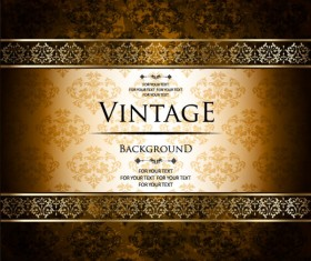 ornate vintage golden frame backgrounds vector 04