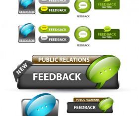 Elements of Creative web button design vector material 01