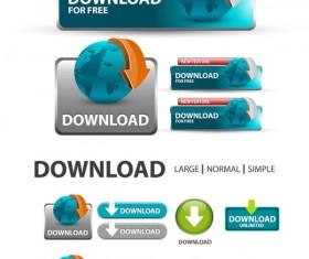 Elements of Creative web button design vector material 03