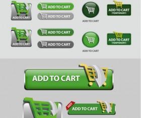 Elements of Creative web button design vector material 06