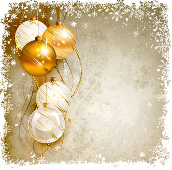 shiny ball with christmas background vector graphics 02 - Free Christmas Background