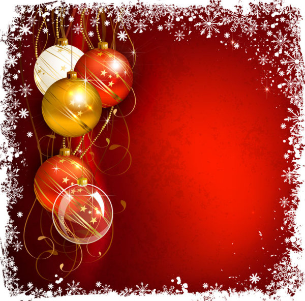 Shiny Ball With Christmas Background Vector Graphics 03 Free Download
