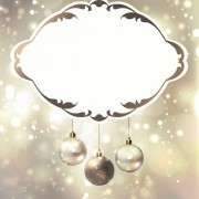 Link toShiny ball with christmas background vector graphics 04