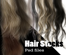 hair psd material files