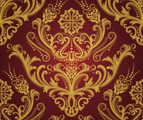 Elements of Ornate Decorative pattern art vector set 02