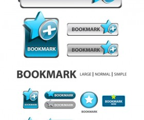 Elements of Creative web button design vector material 07