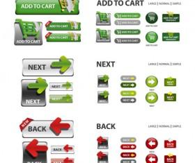 Elements of Creative web button design vector material 08
