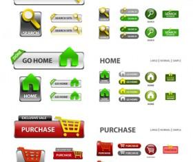 Elements of Creative web button design vector material 09