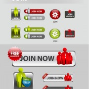 Link toElements of creative web button design vector material 11