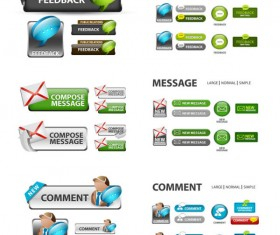 Elements of Creative web button design vector material 12