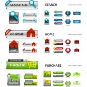 Link toElements of creative web button design vector material 14