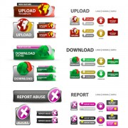 Link toElements of creative web button design vector material 17