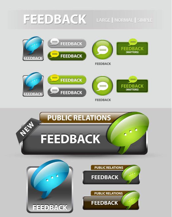 Elements of Creative web button design vector material 23